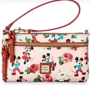 AUTH Dooney & Bourke Minnie & Mickey Floral Pouch